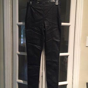 Faux leather black skinny leggings. Size 29